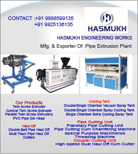 Mfg of : Pipe Extrusion plant